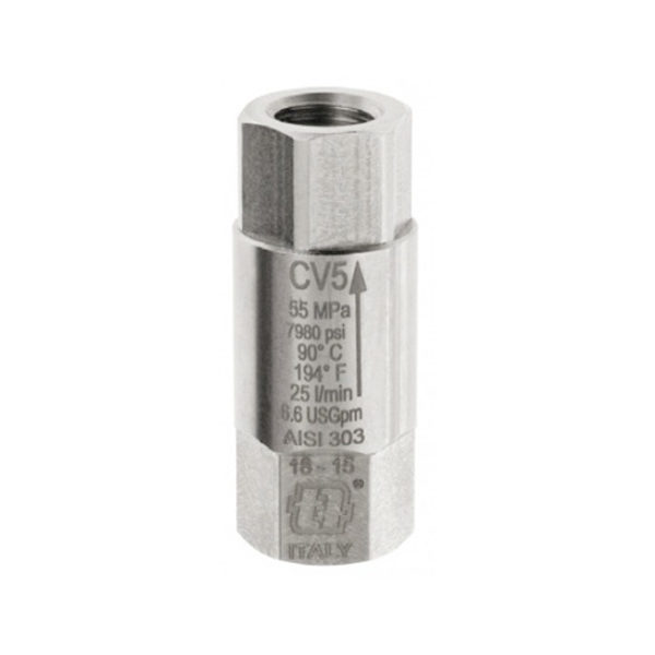 Обратный клапан CV5 G1/4F макс 550 бар