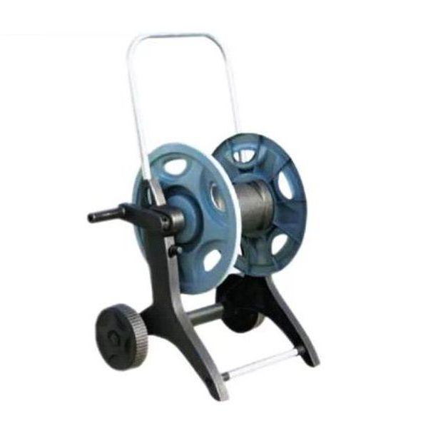 Тележка с катушкой для шланга низкого давления, 2 штекера 16mm (Universal), вместимость до 50m, ВxДxШ=750x440x370mm, 6 bar