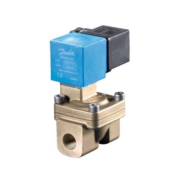Электромагнитный клапан Danfoss 042U471402, двухпозиционный, двухходовой, с сервоприводом, для воды